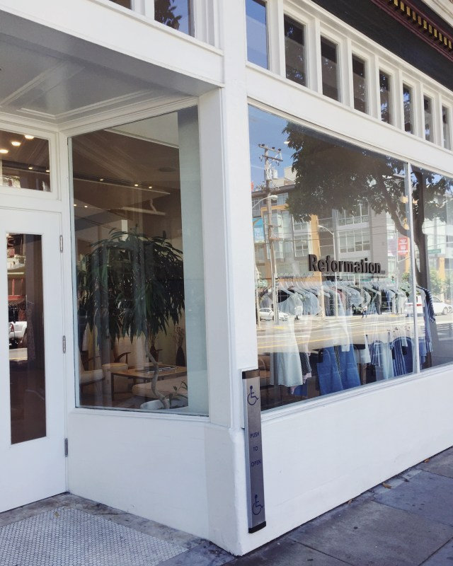 Eco Fashion Shopping: Reformation, San Francisco