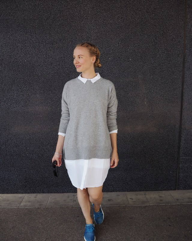 Organic cotton shirt dress