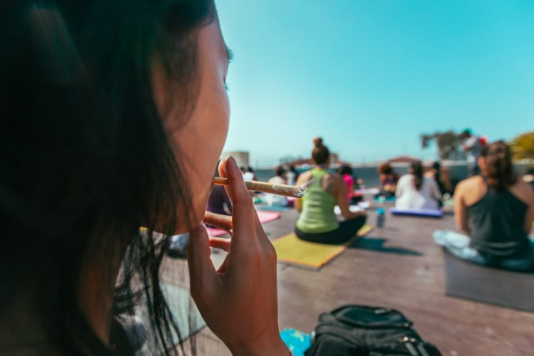 yoga cannabis class