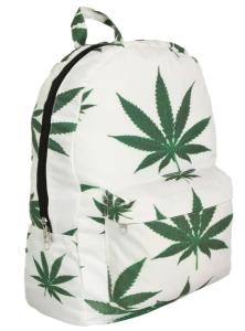 marijuana leaf backpack