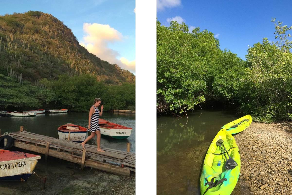 Kanoën bij Santa Cruz Curacao