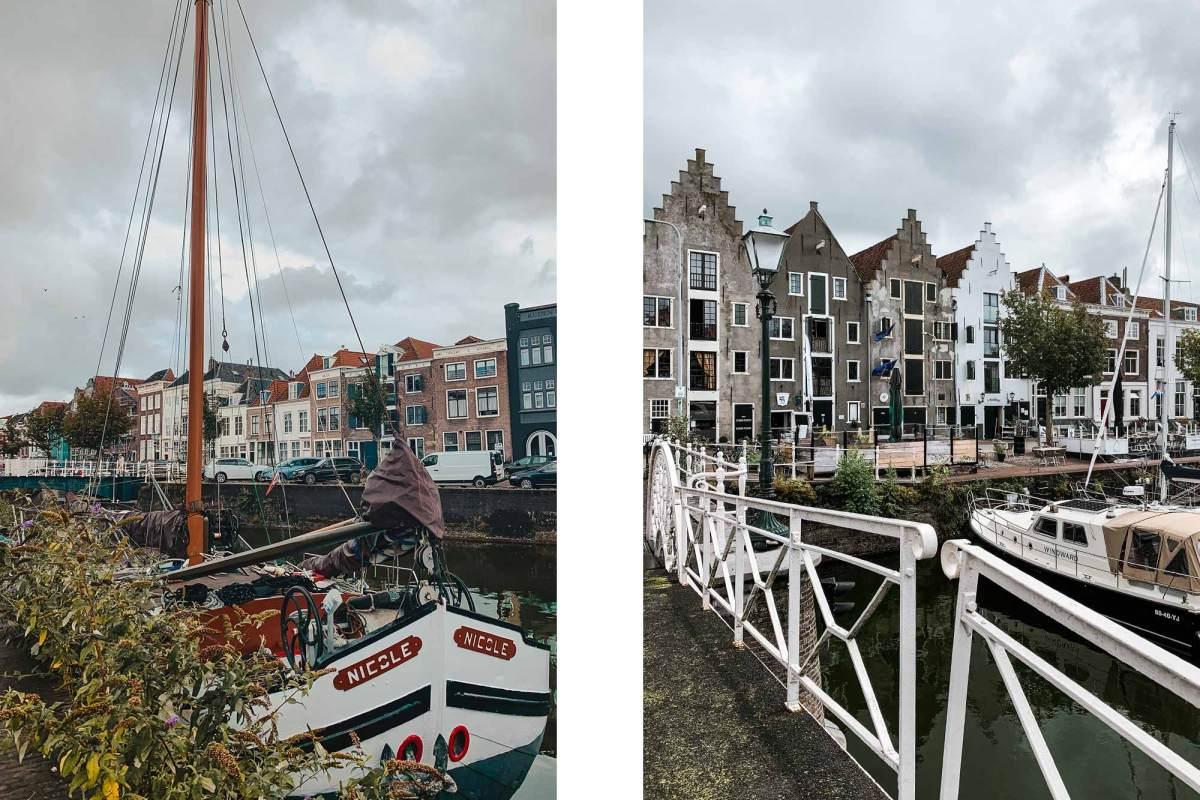 Ga naar de haven van de stad Middelburg