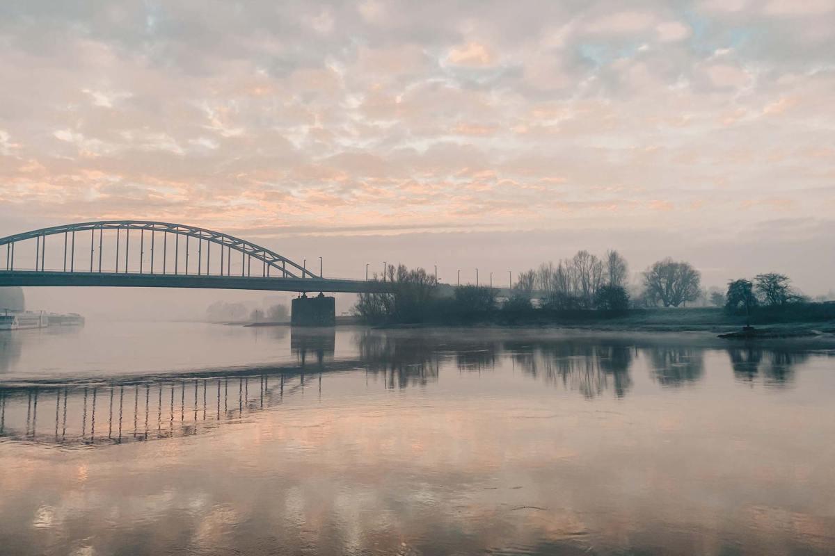 Route langs de Rijn