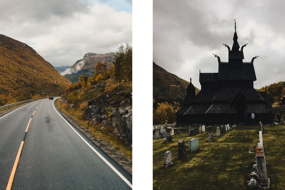 Borgund Stave Church Noorwegen
