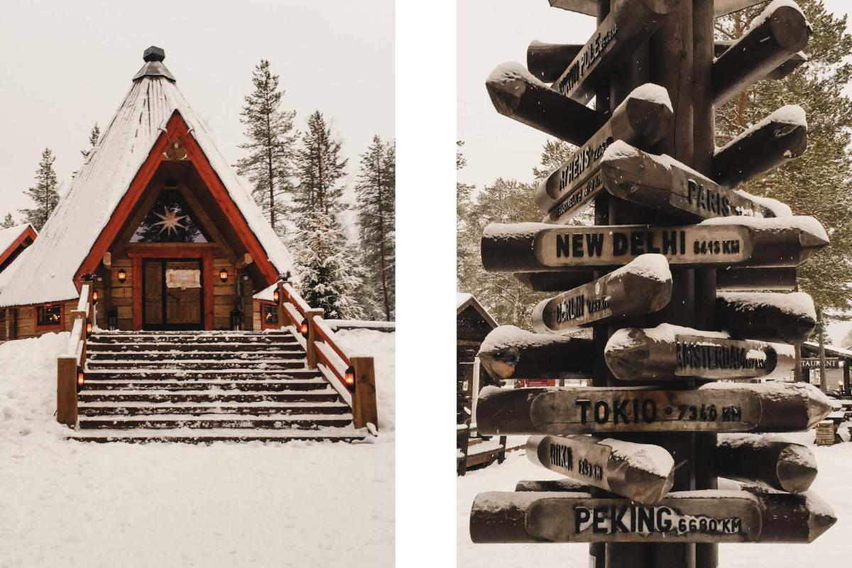 Bezoek aan Santa Claus Village Lapland