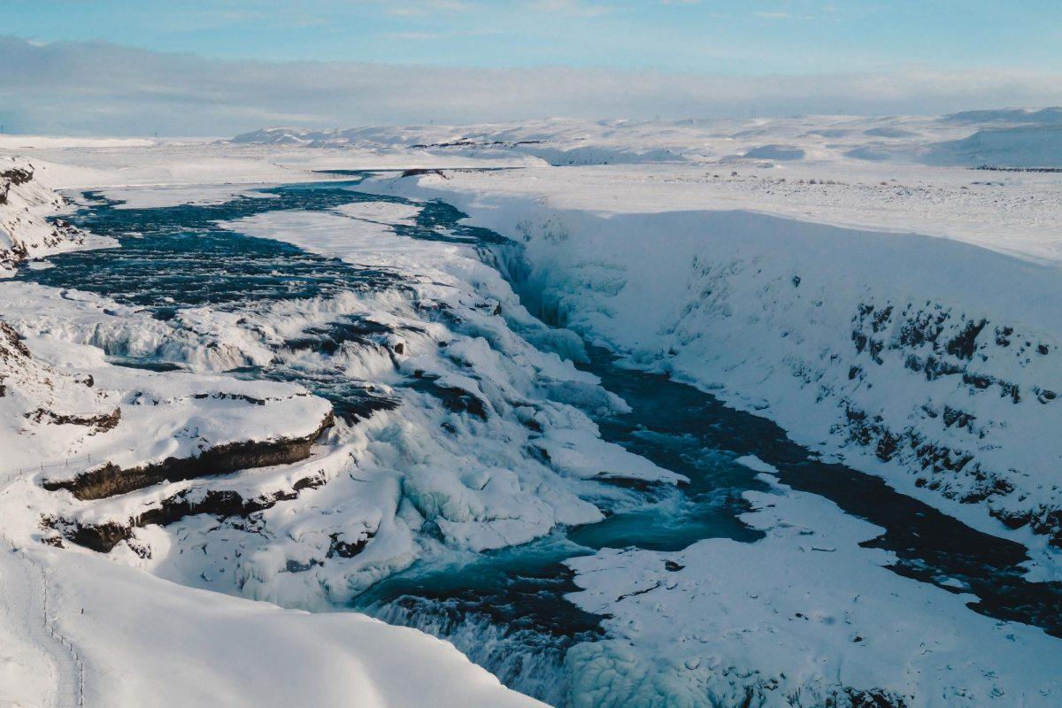 Waterval Gullfoss bezoeken in IJsland