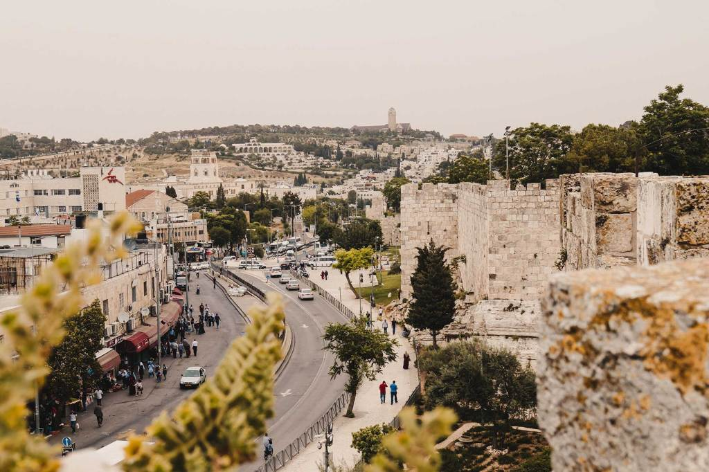 Wandeling stadsmuren Jeruzalem