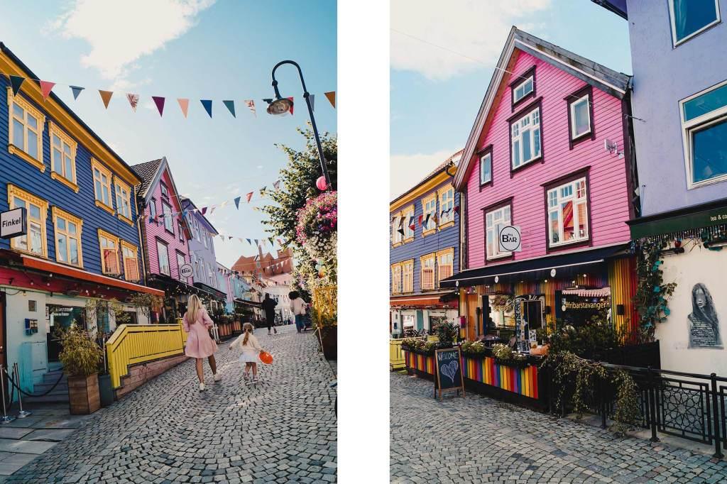 De straat Øvre Holmegate in Stavanger, Noorwegen