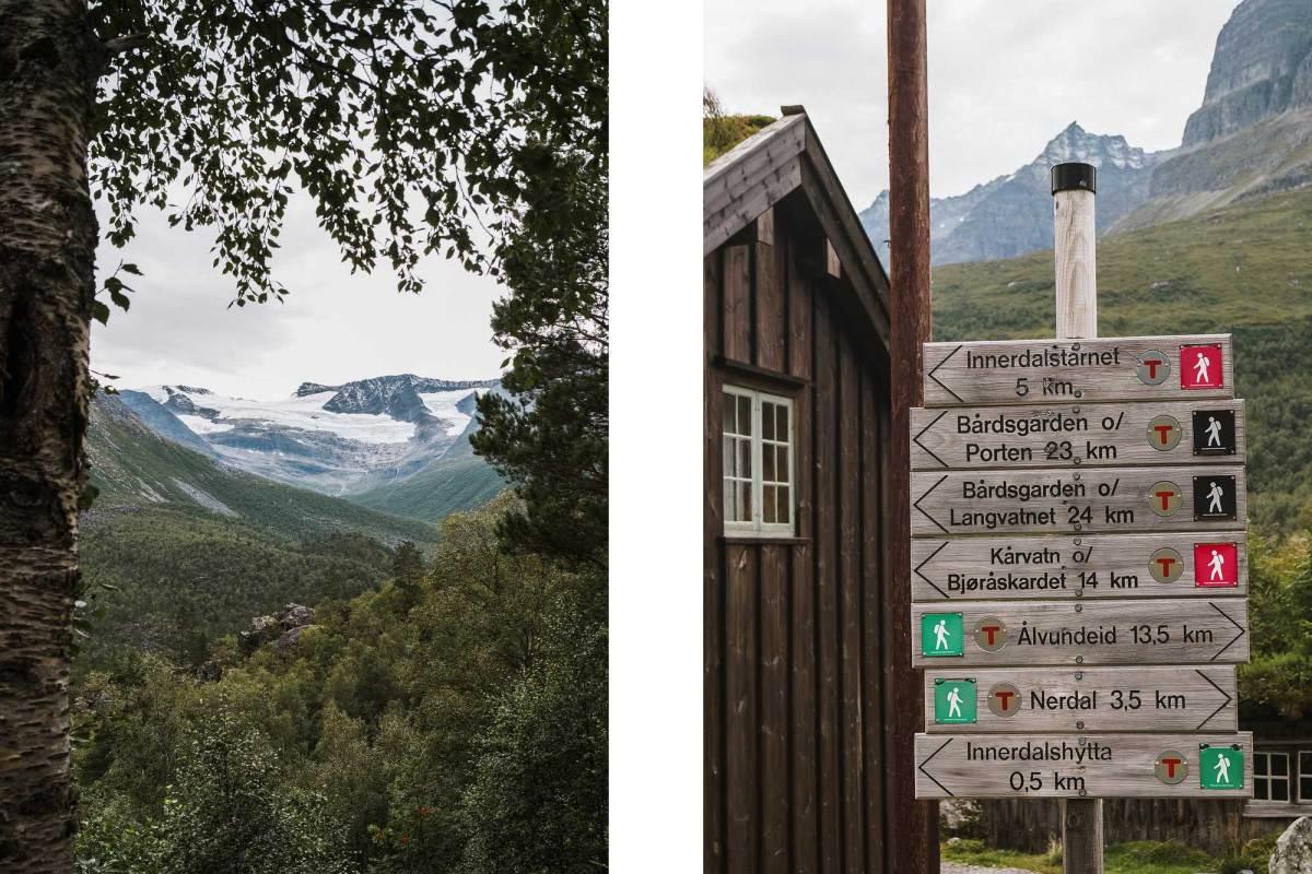 Hiken bij Innerdalen Valley