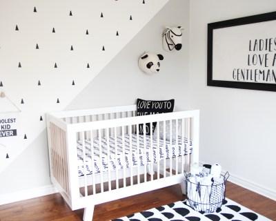 Monochrome Baby Boy Nursery