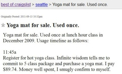 Craigslist Ad Reveals The Horrors Of Hot Yoga The