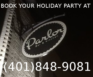 parlor holiday party ad