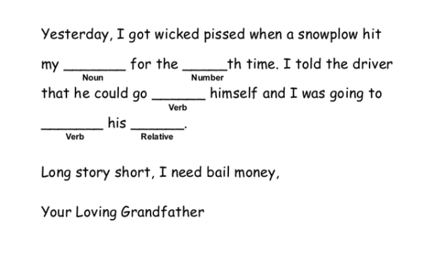 Winter In New England Mad Libs 2