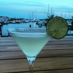 Green Tea Gimlet at the Skiff Bar