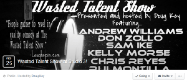 Wasted Talent Feb FB Event