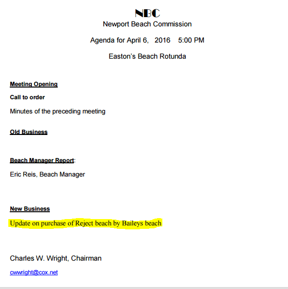 Newport Beach Commission Agenda