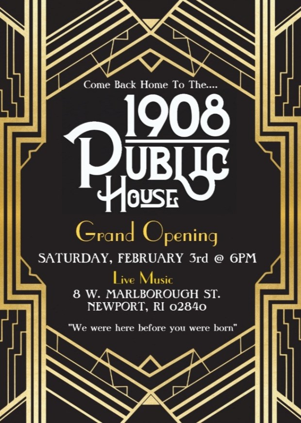1908 Public House Grand Opening Newport RI