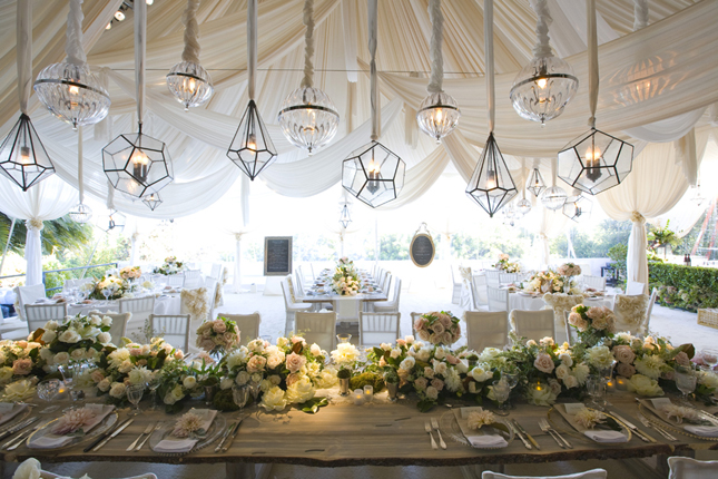 & The Best Way to Decorate the Reception Tent - The Newport Bride