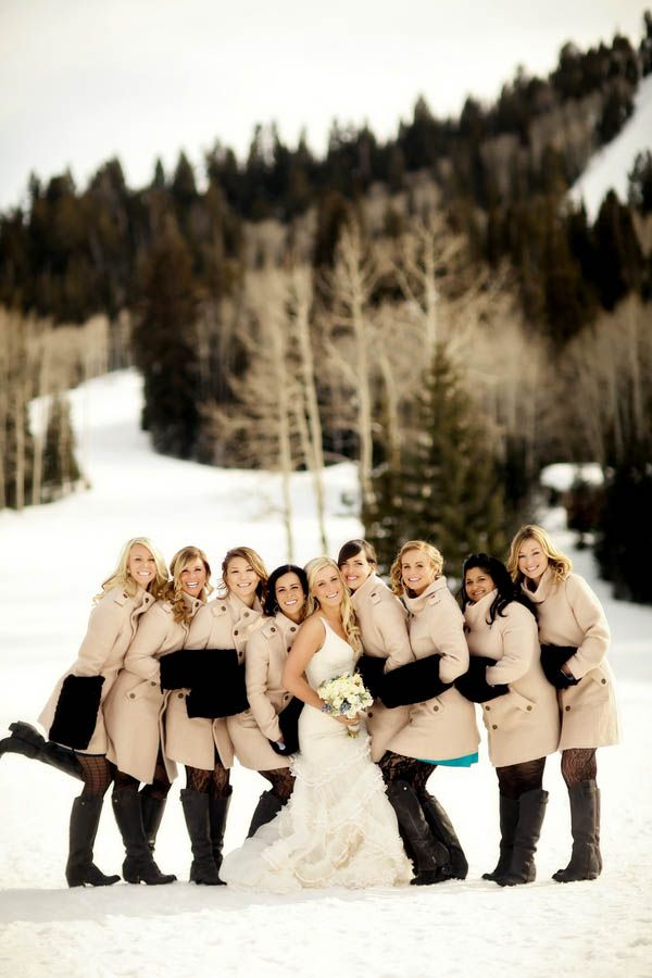 Winter Bridesmaids | The NewportBride