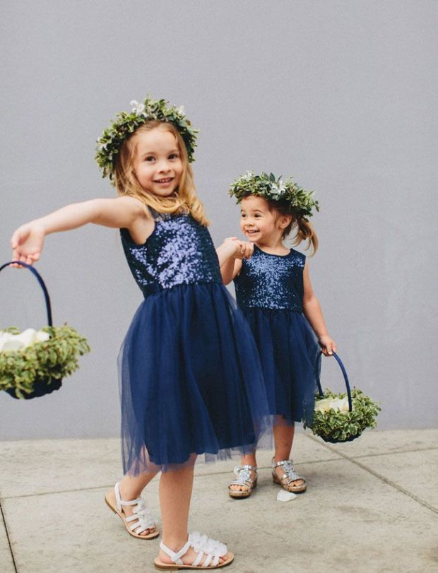 Sparkling Flower Girls for the New Year | The Newport Bride
