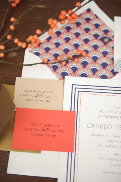 21 Stunning Art Deco Wedding Invitations