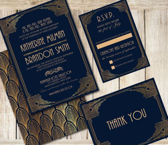 21 Art Deco Invitations | The Newport Bride