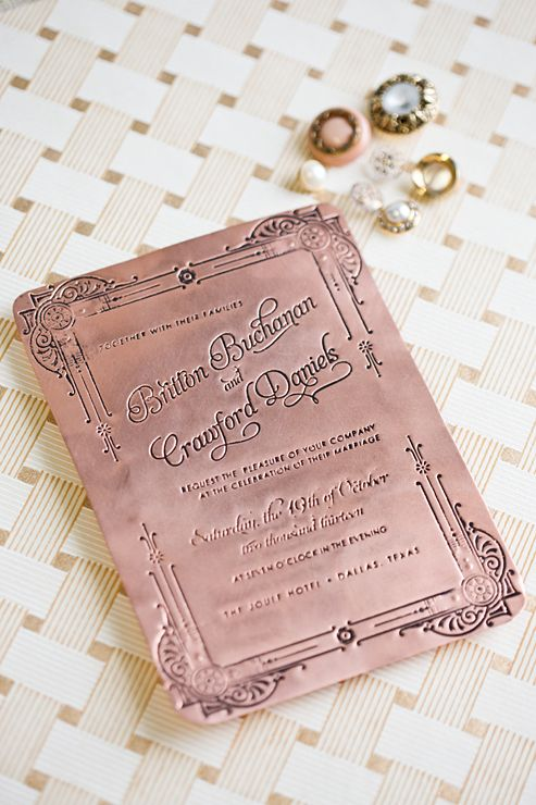 21 Art Deco Invitations } The Newport Bride