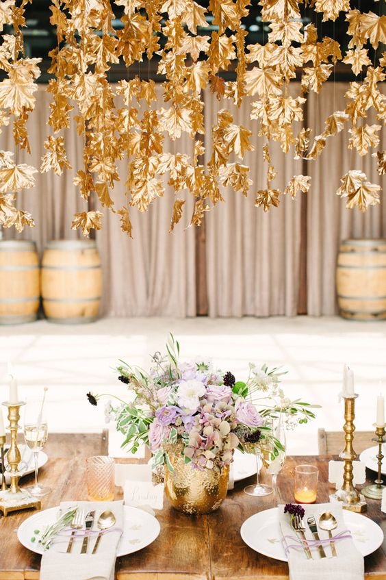 Gold, Cream, and Pumpkins | The Newport Bride