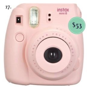 Fujifilm Instax Mini 8 camera on the The Newport Bride Holiday Gift Guide | The Newport Bride