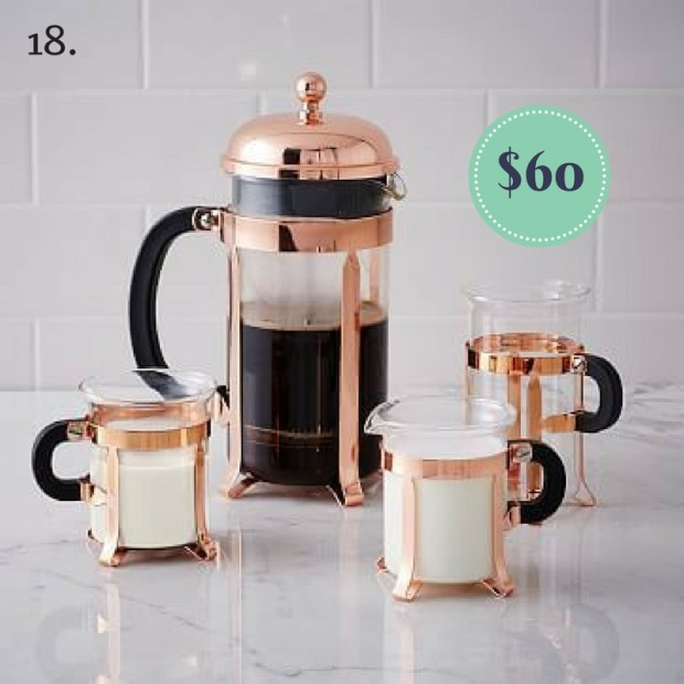 Copper Coffee Press on the The Newport Bride Holiday Gift Guide | The Newport Bride