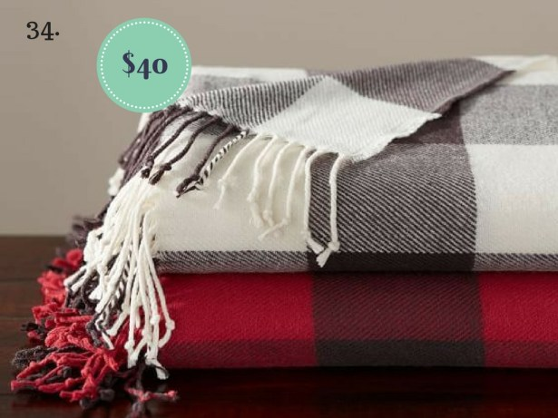 Buffalo Check Throw on The Newport Bride's Holiday Gift Guide | The Newport Bride