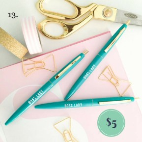 Boss Lady Pen Set Stocking Stuffer on the The Newport Bride Holiday Gift Guide | The Newport Bride