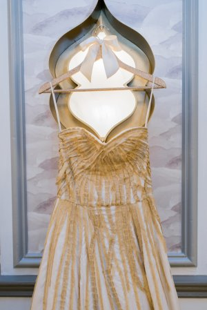 Lindee Daniel Bridal Gown from a Silver and Gold Christmas By The Sea at Hotel Viking | The Newport Bride