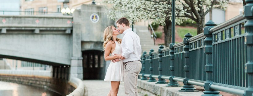 Patriot's Cheerleader and her Engineer Husband's Providence Engagement Shoot on The Newport Bride