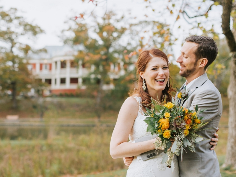 Kate and Tyrone's Fall Wedding at the Historic Roger Williams Casino