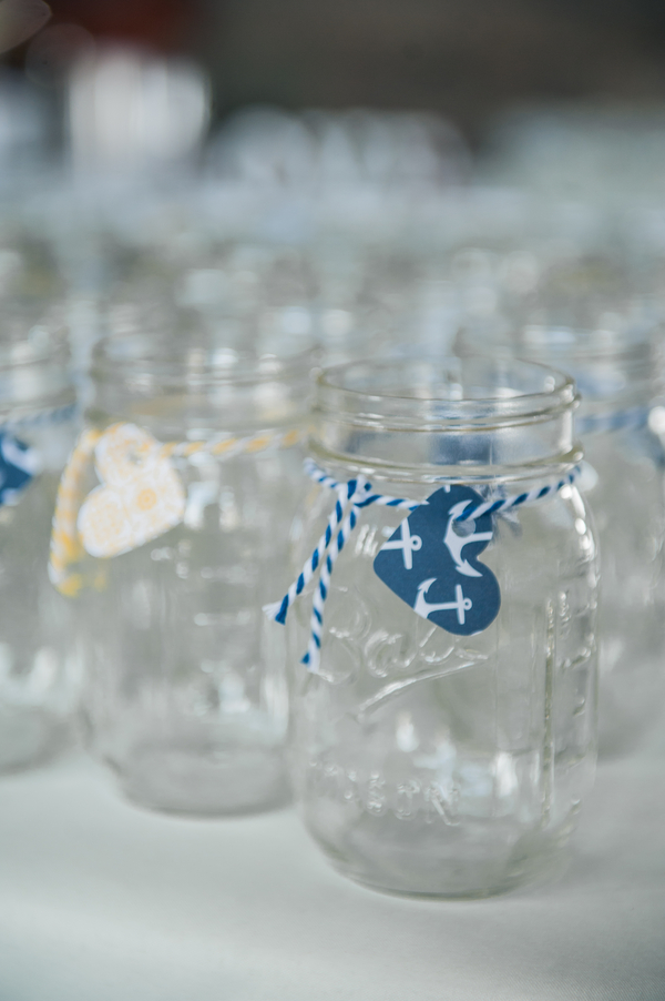 Chris and Liz's Nautically Themed and Hand Decorated Fort Adams Wedding