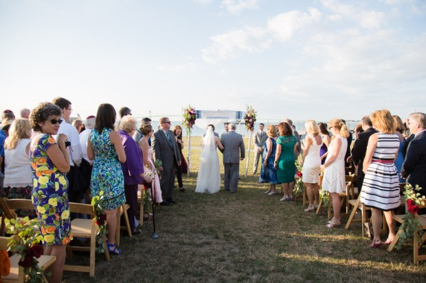 Kaitlyn and Adam's Magenta and Blush Fort Adams Wedding on The Newport Bride Wedding Blog