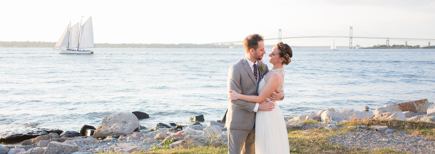Kaitlyn and Adam's Magenta and Blush Fort Adams Wedding