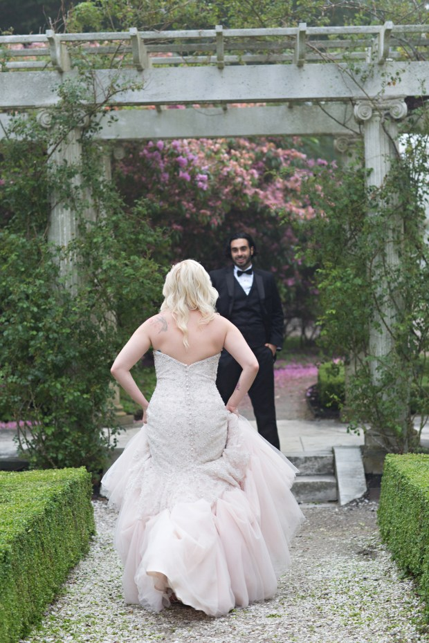 Adriana and Elie's Blush Toned Rosecliff Wedding on The Newport Bride a Rhode Island Wedding Blog