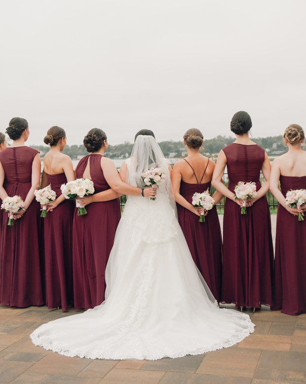 Danielle and Dan's Gold and Cranberry Atlantic Resort Wedding