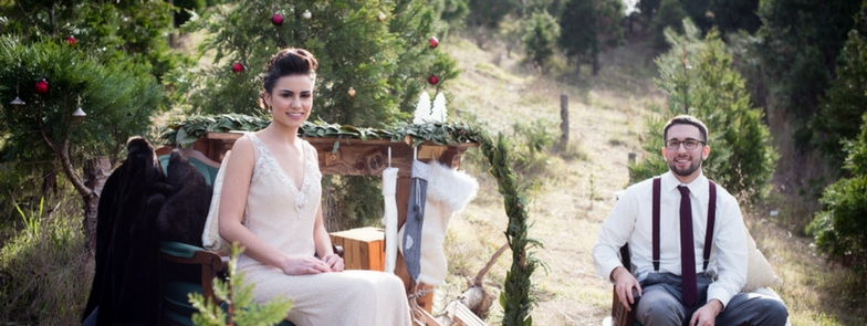 Glamorous Christmas Tree Farm Wedding