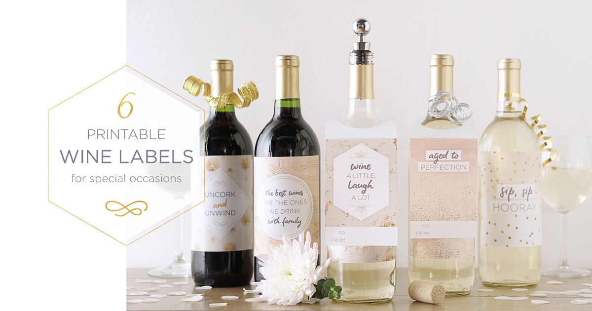 picture regarding Printable Wine Bottle Label named 6 No cost Downloadable Bottle Labels - The Newport Bride