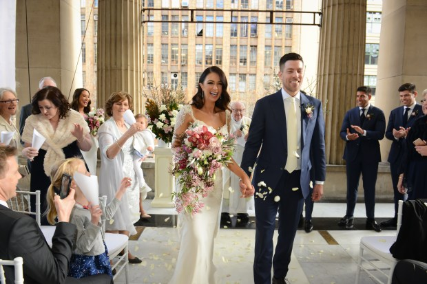 Emily from The Bachelor and Pirres's Wedding on The Newport Bride