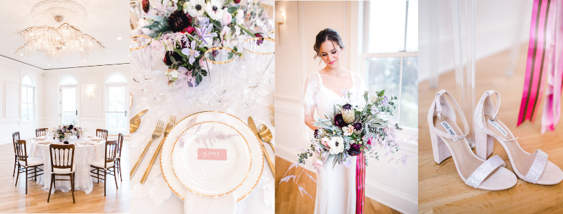 Shades of Violet Styled Shoot at Queen Anne's Loft