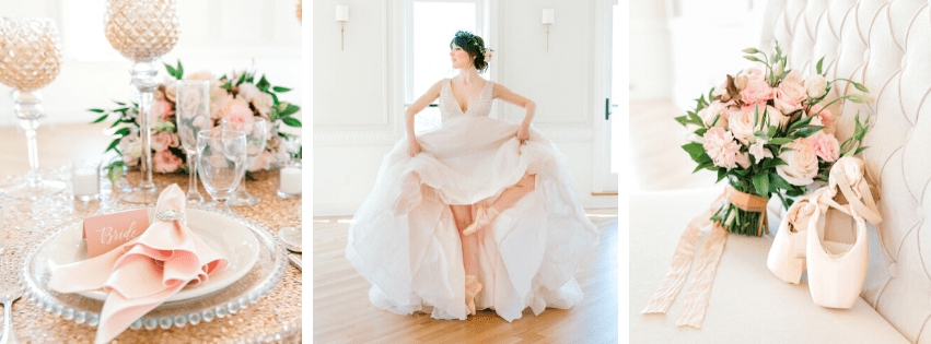 Blush Romantic Ballerina Bridal Styled Shoot