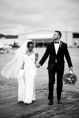 Modern Wedding in an Airplane Hanger on The Newport Bride