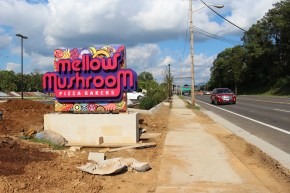 ROANOKE, Oct. 4 - MELLOW MUSHROOM: The new restaurant will open its doors on a busy Franklin Road on Oct. 24. Photo: Katelin Frosell