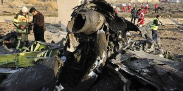 A Ukrainian airplane carrying 176 passengers and crew crashed shortly after taking off from Tehran's airport Wednesday morning, killing all on board and turning farmland on the outskirts of the capital into fields of flaming debris.