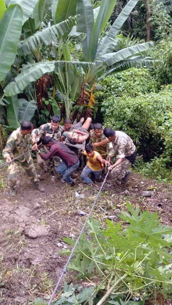 Army, police and local people have joined hands in rescue operations at the site of the bus mishap near Sonapur in #Meghalaya. So far, 38 persons have lost their lives in the horrific accident.