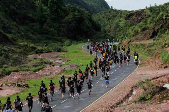 Runners at the Sohra Cherrapunjee Marathon, regarded as the 'Prettiest Marathon in India'
